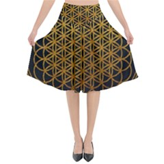 Bring Me The Horizon Cover Album Gold Flared Midi Skirt