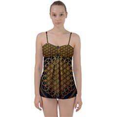 Bring Me The Horizon Cover Album Gold Babydoll Tankini Set