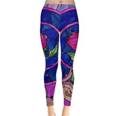 Enchanted Rose Stained Glass Leggings