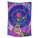 Enchanted Rose Stained Glass Large Tapestry View1