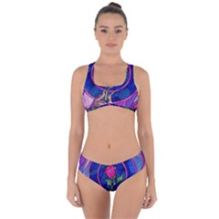Enchanted Rose Stained Glass Criss Cross Bikini Set