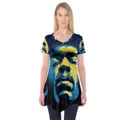 Gabz Jimi Hendrix Voodoo Child Poster Release From Dark Hall Mansion Short Sleeve Tunic