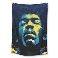 Gabz Jimi Hendrix Voodoo Child Poster Release From Dark Hall Mansion Large Tapestry