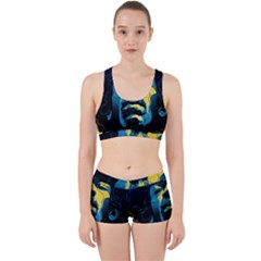 Gabz Jimi Hendrix Voodoo Child Poster Release From Dark Hall Mansion Work It Out Sports Bra Set