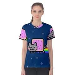 Nyan Cat Women s Cotton Tee
