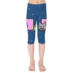 Nyan Cat Kids  Capri Leggings