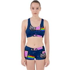 Nyan Cat Work It Out Sports Bra Set