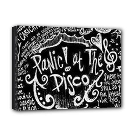 Panic ! At The Disco Lyric Quotes Deluxe Canvas 16  X 12