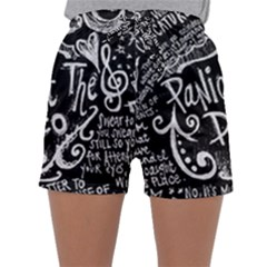 Panic ! At The Disco Lyric Quotes Sleepwear Shorts