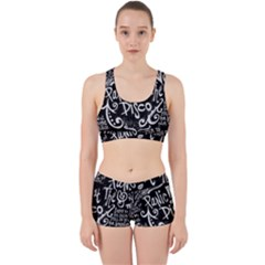 Panic ! At The Disco Lyric Quotes Work It Out Sports Bra Set