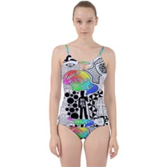 Panic ! At The Disco Cut Out Top Tankini Set