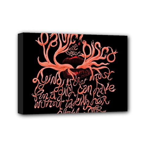 Panic At The Disco   Lying Is The Most Fun A Girl Have Without Taking Her Clothes Mini Canvas 7  X 5