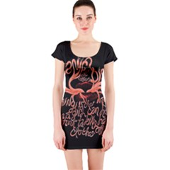 Panic At The Disco   Lying Is The Most Fun A Girl Have Without Taking Her Clothes Short Sleeve Bodycon Dress