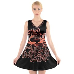 Panic At The Disco   Lying Is The Most Fun A Girl Have Without Taking Her Clothes V Neck Sleeveless Skater Dress