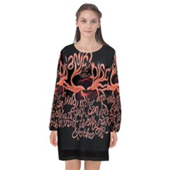 Panic At The Disco   Lying Is The Most Fun A Girl Have Without Taking Her Clothes Long Sleeve Chiffon Shift Dress