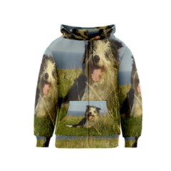 Bearded Collie Laying Kids  Zipper Hoodie