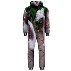 Chinese Crested Dog Sitting Hooded Jumpsuit (men)