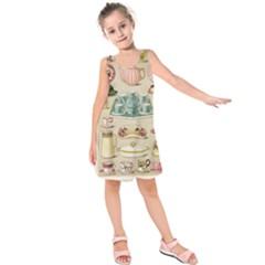 Vintage Cake & Tea Kids  Sleeveless Dress