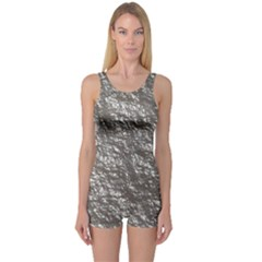 Crumpled Foil 17b One Piece Boyleg Swimsuit