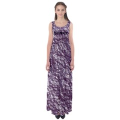 Crumpled Foil 17f Empire Waist Maxi Dress