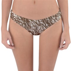 Crumpled Foil 17a Reversible Hipster Bikini Bottoms