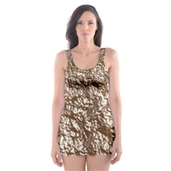 Crumpled Foil 17a Skater Dress Swimsuit