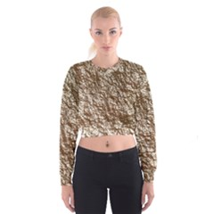 Crumpled Foil 17a Cropped Sweatshirt