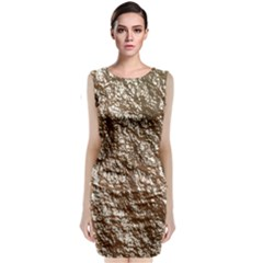 Crumpled Foil 17a Classic Sleeveless Midi Dress