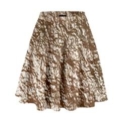 Crumpled Foil 17a High Waist Skirt