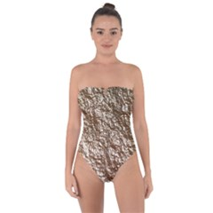 Crumpled Foil 17a Tie Back One Piece Swimsuit