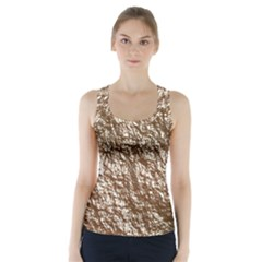 Crumpled Foil 17a Racer Back Sports Top