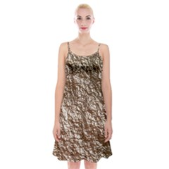 Crumpled Foil 17a Spaghetti Strap Velvet Dress