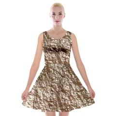 Crumpled Foil 17a Velvet Skater Dress
