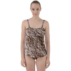 Crumpled Foil 17a Twist Front Tankini Set