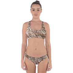 Crumpled Foil 17a Cross Back Hipster Bikini Set