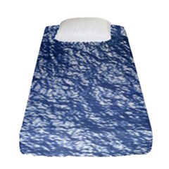 Crumpled Foil 17d Fitted Sheet (single Size)