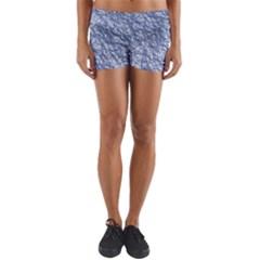 Crumpled Foil 17d Yoga Shorts