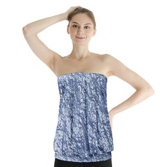 Crumpled Foil 17d Strapless Top