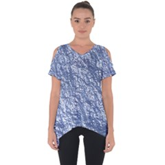 Crumpled Foil 17d Cut Out Side Drop Tee