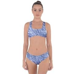 Crumpled Foil 17d Criss Cross Bikini Set