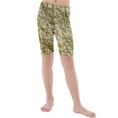 Crumpled Foil 17c Kids  Mid Length Swim Shorts