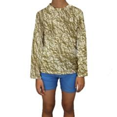 Crumpled Foil 17c Kids  Long Sleeve Swimwear