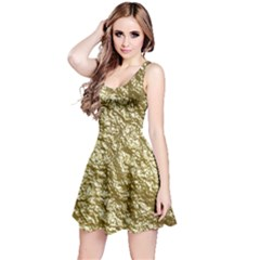 Crumpled Foil 17c Reversible Sleeveless Dress