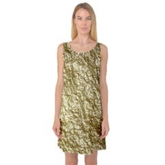 Crumpled Foil 17c Sleeveless Satin Nightdress