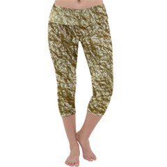 Crumpled Foil 17c Capri Yoga Leggings