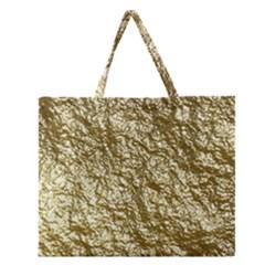 Crumpled Foil 17c Zipper Large Tote Bag