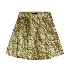 Crumpled Foil 17c Mini Flare Skirt