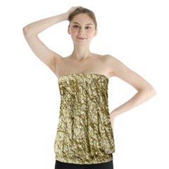 Crumpled Foil 17c Strapless Top