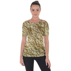 Crumpled Foil 17c Short Sleeve Top