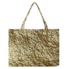 Crumpled Foil 17c Medium Zipper Tote Bag